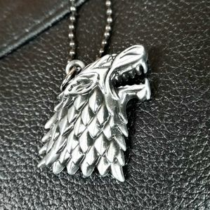 Wolf Pendant Necklace (Game of Thrones)